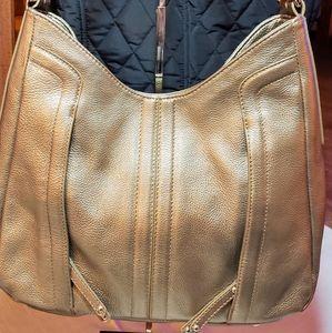 Tignanello gold metallic shoulder bag